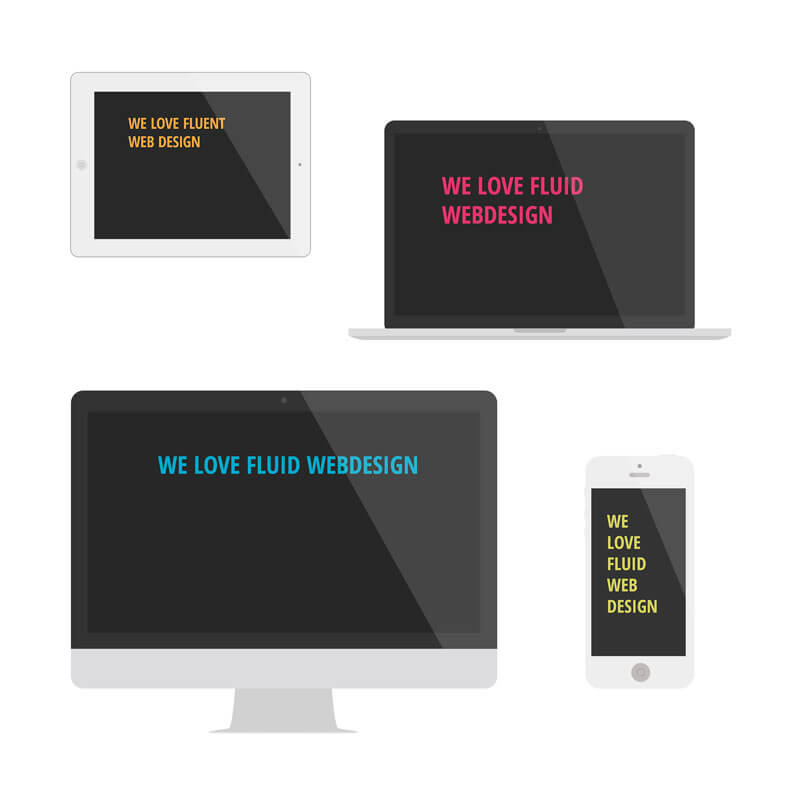 Flat Responsive Mockups forArticle white